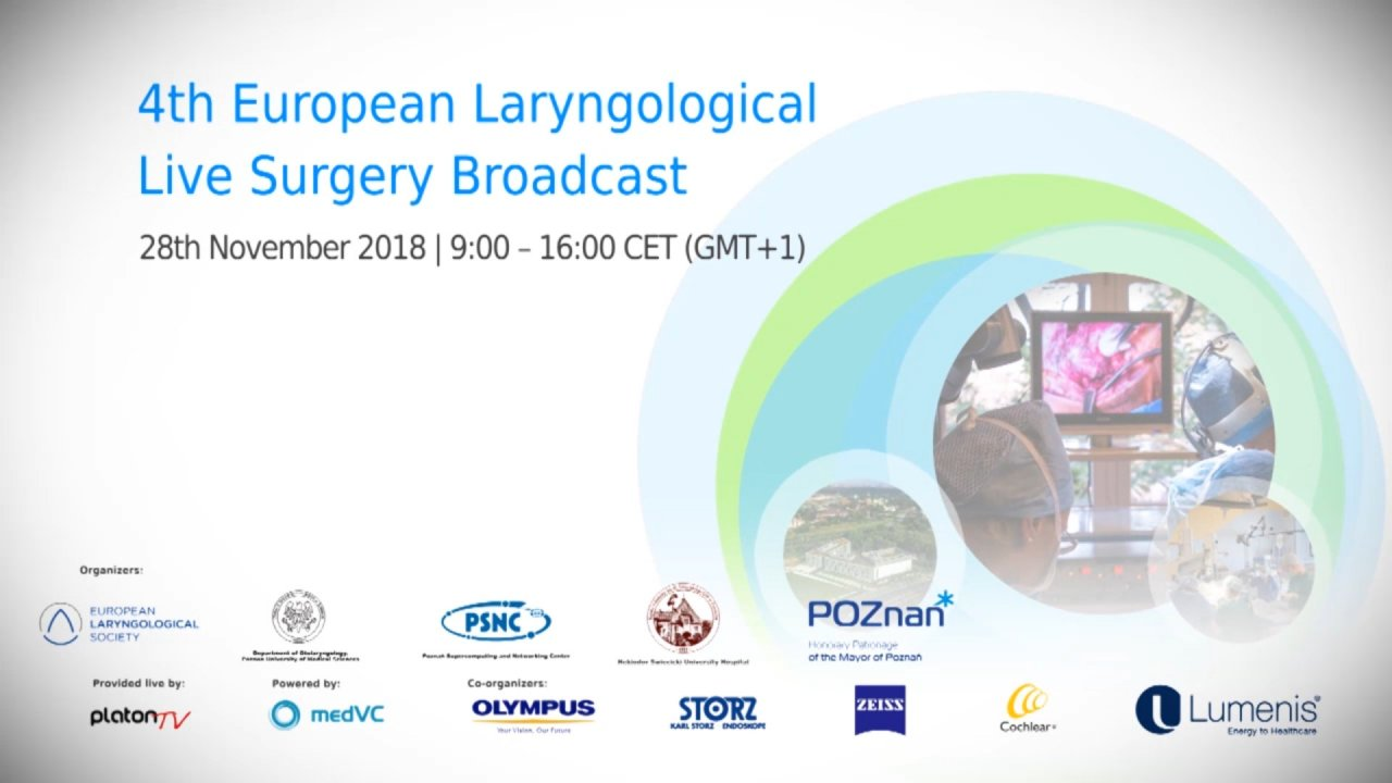 4th European Laryngological Live Surgery Broadcast